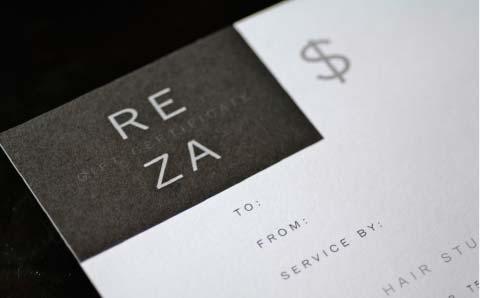 Reza Hair Studio Letterhead