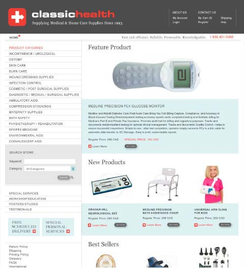 Classic Health Supplies Ltd Website