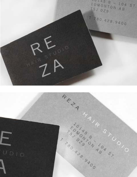 Reza Hair Studio Business Card Design